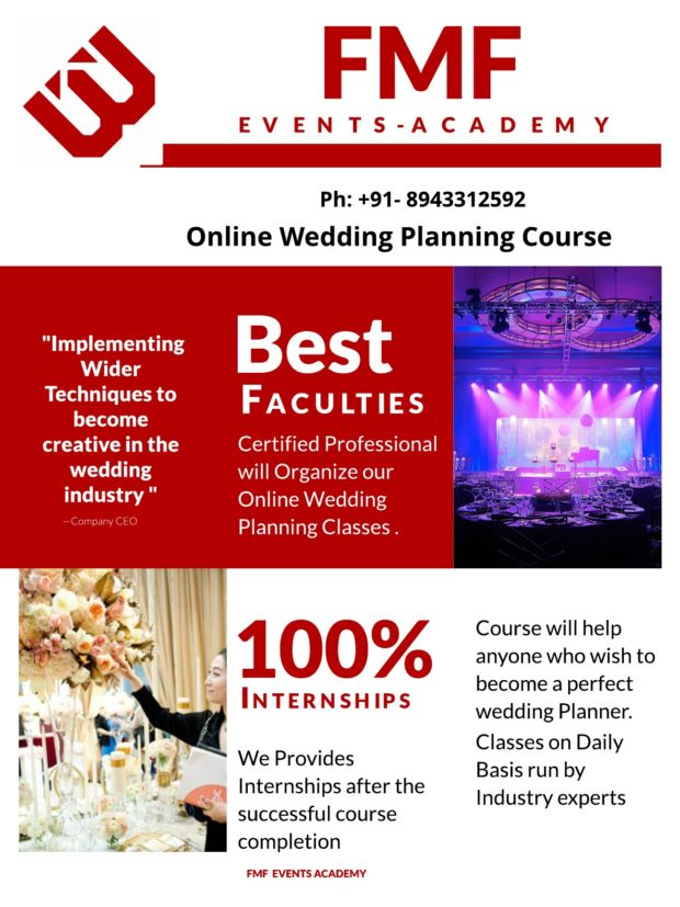 online wedding planning course india | fmf events academy